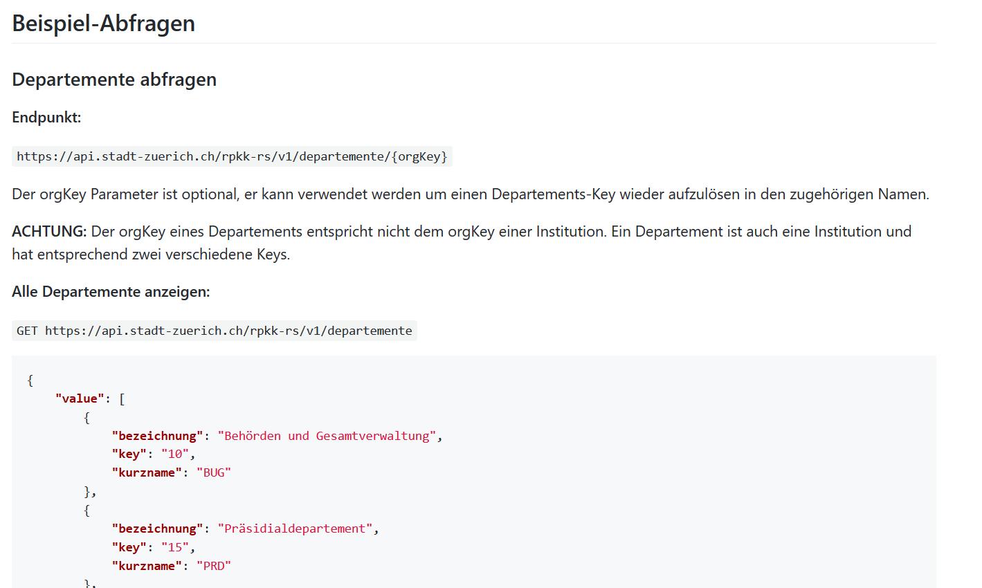 RPK-API Dokumentation